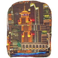 Shanghai Skyline Architecture Full Print Backpack