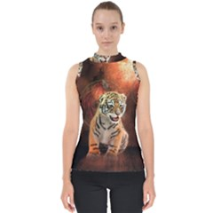 Cute Little Tiger Baby Shell Top