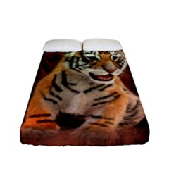 Cute Little Tiger Baby Fitted Sheet (full/ Double Size) by FantasyWorld7