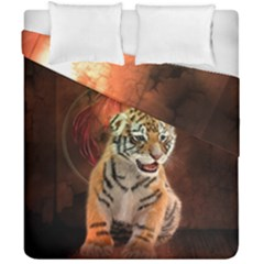 Cute Little Tiger Baby Duvet Cover Double Side (california King Size) by FantasyWorld7