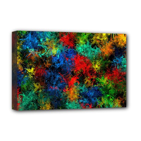 Squiggly Abstract A Deluxe Canvas 18  X 12   by MoreColorsinLife