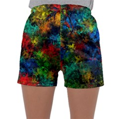 Squiggly Abstract A Sleepwear Shorts