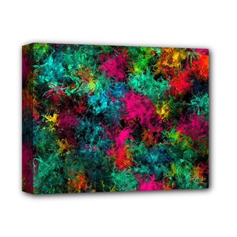 Squiggly Abstract B Deluxe Canvas 14  X 11  by MoreColorsinLife