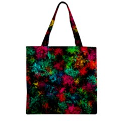 Squiggly Abstract B Zipper Grocery Tote Bag by MoreColorsinLife