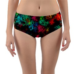 Squiggly Abstract B Reversible Mid Waist Bikini Bottoms by MoreColorsinLife