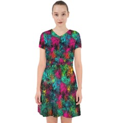 Squiggly Abstract B Adorable In Chiffon Dress