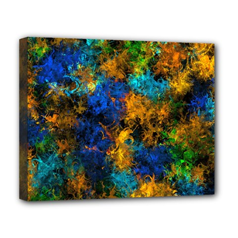 Squiggly Abstract C Deluxe Canvas 20  X 16   by MoreColorsinLife