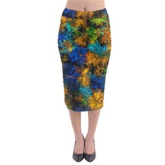 Squiggly Abstract C Midi Pencil Skirt by MoreColorsinLife