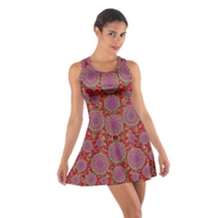 Hearts Can Also Be Flowers Such As Bleeding Hearts Pop Art Cotton Racerback Dress by pepitasart