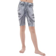 Dreaded Princess  Kids  Mid Length Swim Shorts