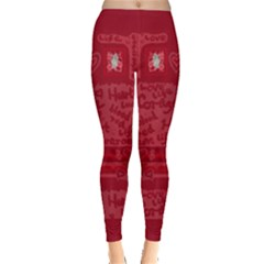 Heart Art Leggings by JuliaWoodmanDesign