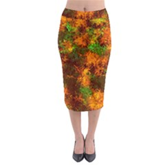 Squiggly Abstract F Midi Pencil Skirt by MoreColorsinLife