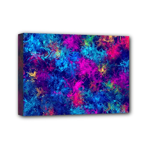 Squiggly Abstract E Mini Canvas 7  X 5