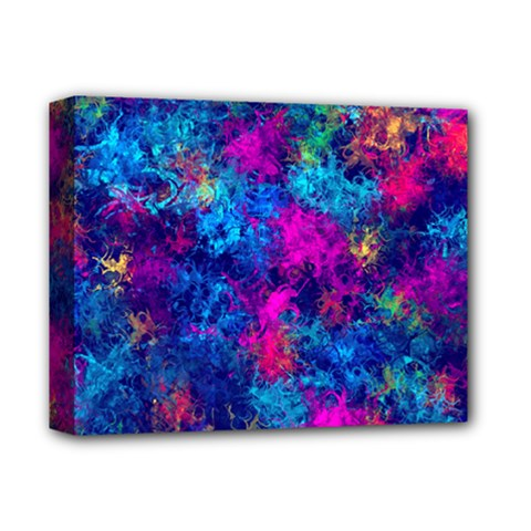 Squiggly Abstract E Deluxe Canvas 14  X 11  by MoreColorsinLife