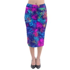 Squiggly Abstract E Midi Pencil Skirt by MoreColorsinLife