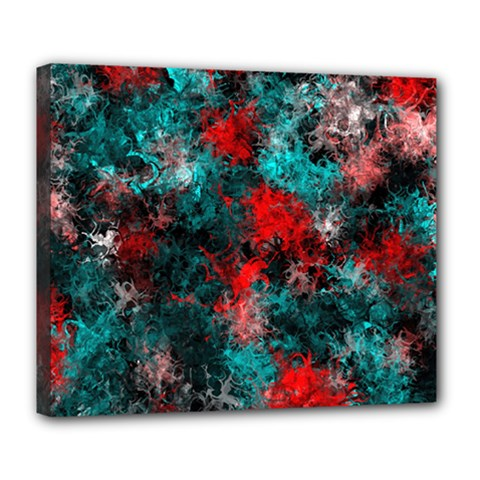 Squiggly Abstract D Deluxe Canvas 24  X 20   by MoreColorsinLife