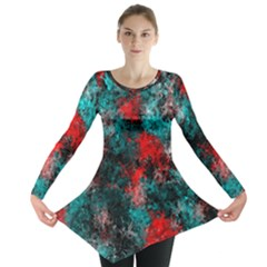 Squiggly Abstract D Long Sleeve Tunic  by MoreColorsinLife
