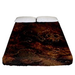 Wonderful Marbled Structure A Fitted Sheet (king Size) by MoreColorsinLife