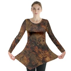 Wonderful Marbled Structure A Long Sleeve Tunic  by MoreColorsinLife