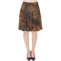 Wonderful Marbled Structure A Velvet High Waist Skirt by MoreColorsinLife