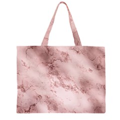 Wonderful Marbled Structure E Zipper Large Tote Bag by MoreColorsinLife