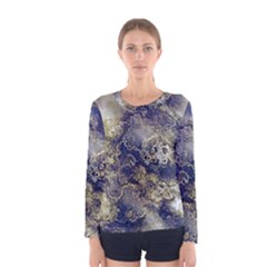 Wonderful Marbled Structure D Women s Long Sleeve Tee by MoreColorsinLife