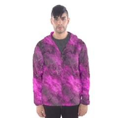 Wonderful Marbled Structure C Hooded Wind Breaker (men) by MoreColorsinLife