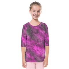 Wonderful Marbled Structure C Kids  Quarter Sleeve Raglan Tee by MoreColorsinLife