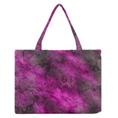 Wonderful Marbled Structure C Zipper Medium Tote Bag by MoreColorsinLife