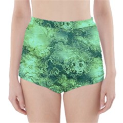 Wonderful Marbled Structure I High Waisted Bikini Bottoms by MoreColorsinLife