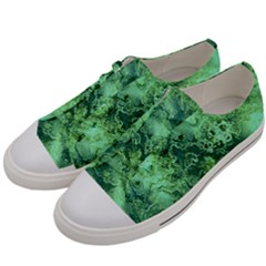 Wonderful Marbled Structure I Men s Low Top Canvas Sneakers by MoreColorsinLife