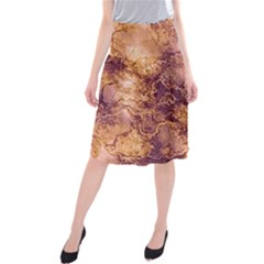 Wonderful Marbled Structure I Midi Beach Skirt by MoreColorsinLife