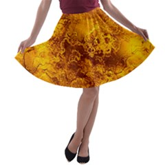 Wonderful Marbled Structure H A Line Skater Skirt by MoreColorsinLife