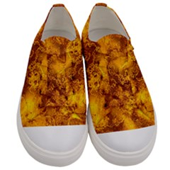 Wonderful Marbled Structure H Men s Low Top Canvas Sneakers