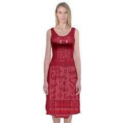 Heart Design Midi Dress