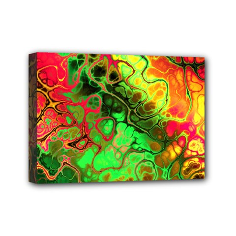 Awesome Fractal 35i Mini Canvas 7  X 5  by MoreColorsinLife