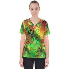 Awesome Fractal 35i Scrub Top by MoreColorsinLife