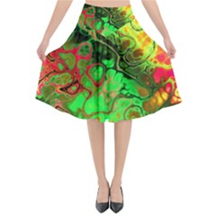 Awesome Fractal 35i Flared Midi Skirt by MoreColorsinLife
