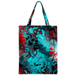 Awesome Fractal 35g Zipper Classic Tote Bag by MoreColorsinLife