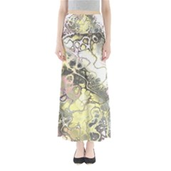 Awesome Fractal 35h Full Length Maxi Skirt by MoreColorsinLife