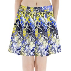Awesome Fractal 35a Pleated Mini Skirt by MoreColorsinLife