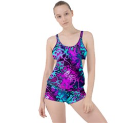 Awesome Fractal 35b Boyleg Tankini Set