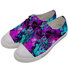 Awesome Fractal 35b Men s Low Top Canvas Sneakers by MoreColorsinLife