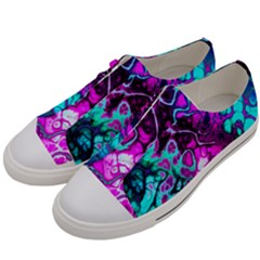 Awesome Fractal 35b Women s Low Top Canvas Sneakers by MoreColorsinLife