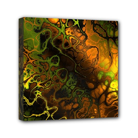 Awesome Fractal 35e Mini Canvas 6  X 6  by MoreColorsinLife