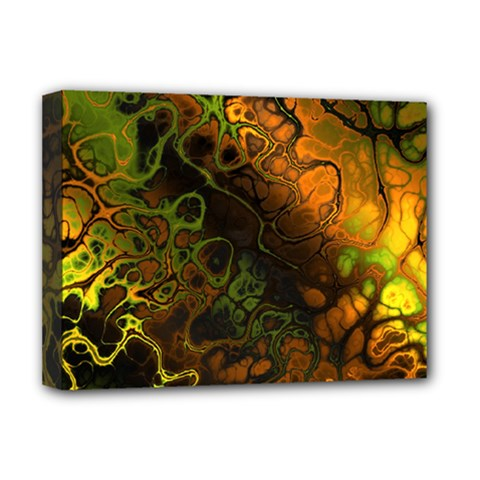 Awesome Fractal 35e Deluxe Canvas 16  X 12   by MoreColorsinLife