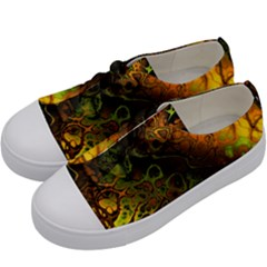 Awesome Fractal 35e Kids  Low Top Canvas Sneakers by MoreColorsinLife