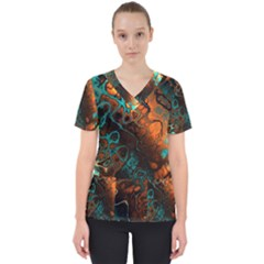 Awesome Fractal 35f Scrub Top