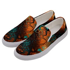 Awesome Fractal 35f Men s Canvas Slip Ons by MoreColorsinLife