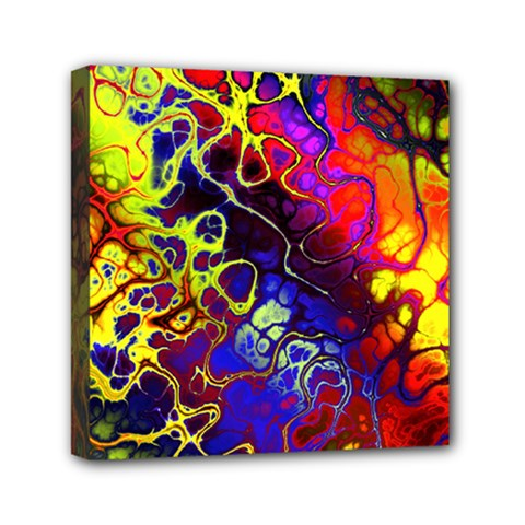 Awesome Fractal 35c Mini Canvas 6  X 6  by MoreColorsinLife